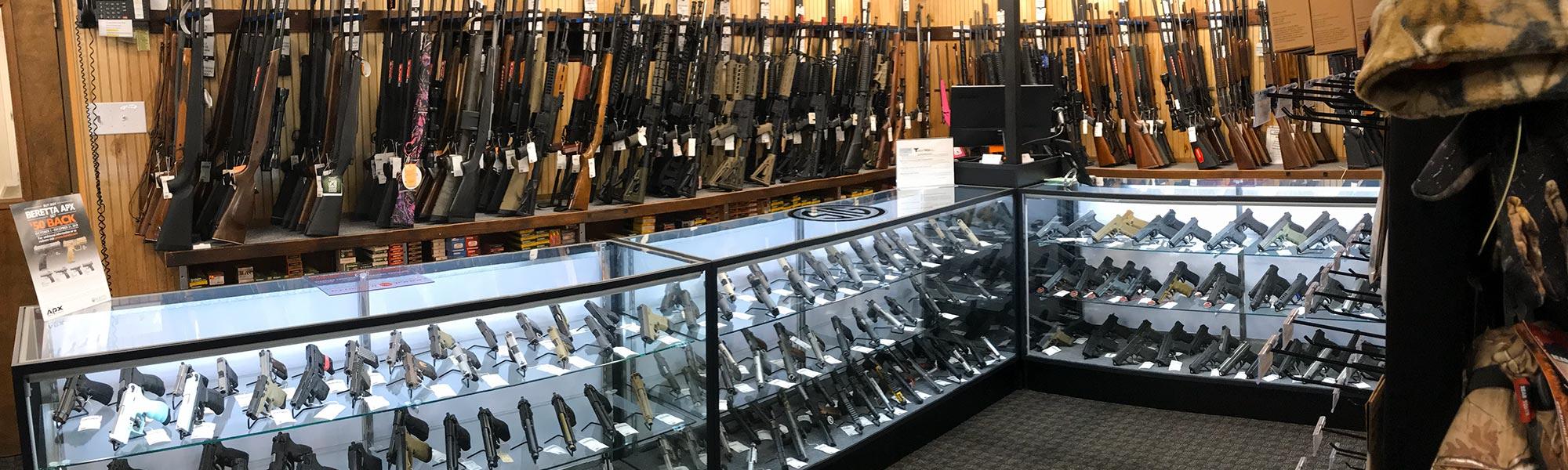 Gun sales at Target World in Chalfont, PA
